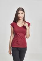 Tricouri cu taieturi la spate pentru femei rosu burgundy Urban Classics