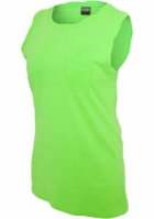 Tricouri fara maneci cu buzunar potocaliu-neon Urban Classics