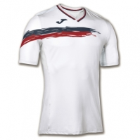 Tricouri Joma T- tenis alb-rosu cu maneca scurta