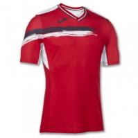 Tricouri Joma T- tenis rosu-bleumarin cu maneca scurta