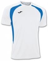 Tricouri Joma T- Champion III alb-royal cu maneca scurta
