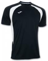 Tricouri Joma T- Champion III negru-alb cu maneca scurta