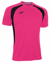 Tricouri Joma T- Champion III roz Fluor-negru cu maneca scurta