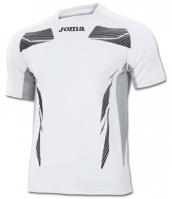 Tricouri Joma T- Elite III alb cu maneca scurta