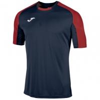 Tricouri Joma T- Essential bleumarin-rosu cu maneca scurta