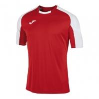 Tricouri Joma T- Essential rosu-alb cu maneca scurta