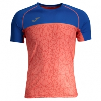 Tricouri Joma T- Olimpia Flash Orange-royal cu maneca scurta
