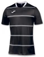 Tricouri Joma T- Standard negru Stripes cu maneca scurta