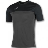 Tricouri Joma T- Winner Anthracite-negru cu maneca scurta