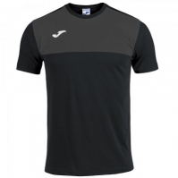 Tricouri Joma T- Winner bumbac negru-anthracite cu maneca scurta