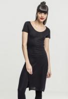 Tricouri lungi cu crapaturi laterale negru Urban Classics