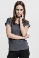 Tricouri lungi femei spray dye gri inchis Urban Classics