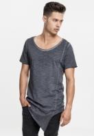 Tricouri lungi in colturi barbati gri inchis Urban Classics