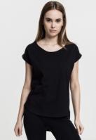 Tricouri mai lungi in spate femei negru Urban Classics