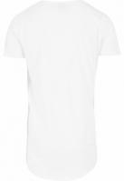 Tricouri mai lungi in spate shaped alb Urban Classics