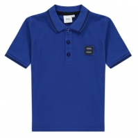 Tricouri polo Boss Hugo Boss Badge Logo pentru copii albastru