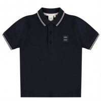 Tricouri polo Boss Hugo Boss Badge Logo pentru copii bleumarin