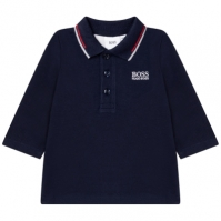 Tricouri polo Boss Hugo Boss Embroidered bleumarin