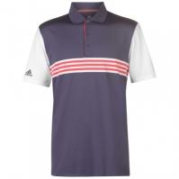 Tricouri polo pentru golf adidas 3 cu dungi pentru Barbati