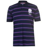 Tricouri polo cu dungi RFU Anglia Rugby Shirt pentru Barbati