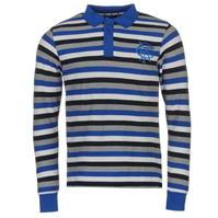 Tricouri polo cu dungi Team Rangers cu Maneca Lunga Shirt pentru Barbati