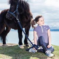 Tricouri Polo echitatie Pique pentru fete