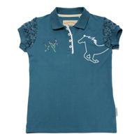 Tricouri Polo echitatie Pique pentru fete pentru Bebelusi