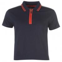 Tricouri polo Golddigga Retro cu fermoar pentru Femei