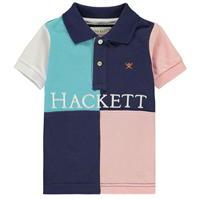 Tricouri Polo Hackett Hackett Quad Panel bumbac cu maneca scurta pentru baieti