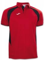 Tricouri polo Joma Champion III rosu-negru cu maneca scurta
