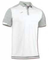 Tricouri Polo Joma Comfort alb cu maneca scurta -polyester-