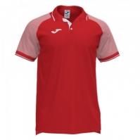 Mergi la Tricouri polo Joma Essential II rosu-alb cu maneca scurta