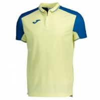 Tricouri polo Joma tenis galben-albastru cu maneca scurta