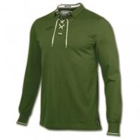 Tricouri Polo Joma Invictus verde cu maneca lunga