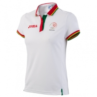 Tricouri polo Joma Podium Co Portugal alb cu maneca scurta W R