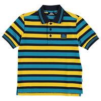 Tricouri polo cu dungi Lonsdale Block Shirt pentru baietei