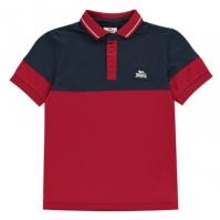 Tricouri Polo Lonsdale Cut and Sew Jersey Juniors pentru baieti bleumarin rosu