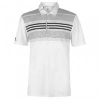 Tricouri polo pentru golf adidas Bold cu dungi pentru Barbati