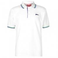 Tricouri Polo Slazenger Tipped pentru Barbati alb summer