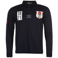 Tricouri rugby RFU England Heritage cu Maneca Lunga pentru Barbati