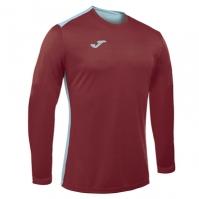 Tricouri sport Joma Campus cu maneca lunga Burgundy-sky albastru