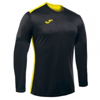 Tricouri sport Joma Campus negru-galben cu maneca lunga