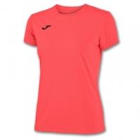 Tricouri sport Joma T- Combi Coral Fluor cu maneca scurta
