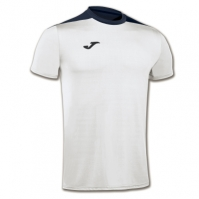 Tricouri sport Joma T- Spike alb-bleumarin cu maneca scurta