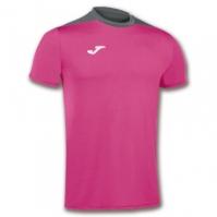 Tricouri sport Joma Spike Fuchsia-gri cu maneca scurta