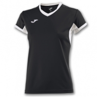 Tricouri sport Joma T- Champion Iv negru-alb cu maneca scurta pentru Femei