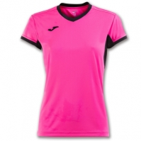 Mergi la Tricouri sport Joma T- Champion Iv roz-negru cu maneca scurta pentru Femei