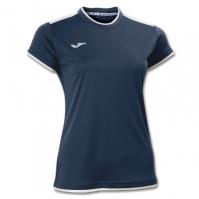 Tricouri sport Joma T- Katy bleumarin-alb cu maneca scurta