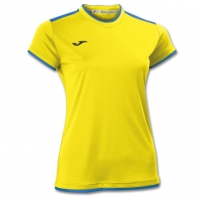 Tricouri sport Joma T- Katy galben-royal cu maneca scurta