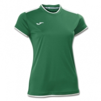Tricouri sport Joma T- Katy verde-alb cu maneca scurta